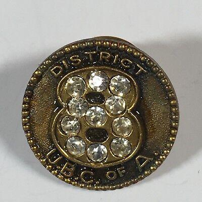 "CLIC Unity UBC 1992 Carpenters Union Lapel Pin Tie Pin Hat Pin 1.5/"" Vintage"