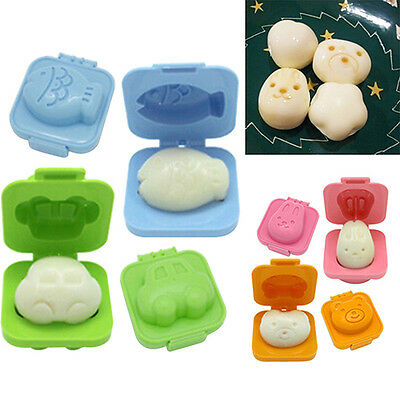 2Pcs Boiled Egg Rice Molds Funny Kitchen Tools Kids Bento Maker Gadgets New
