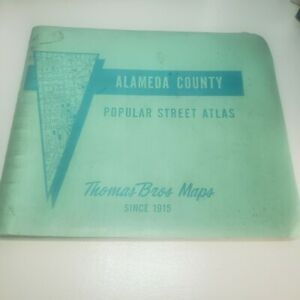 Thomas Bros Maps Alameda County 1979 Popular Street Atlas Guide California vtg