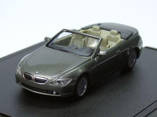 Herpa BMW 6er Cabrio stratusgrau dealer 430-1:87 SONDERANGEBOT