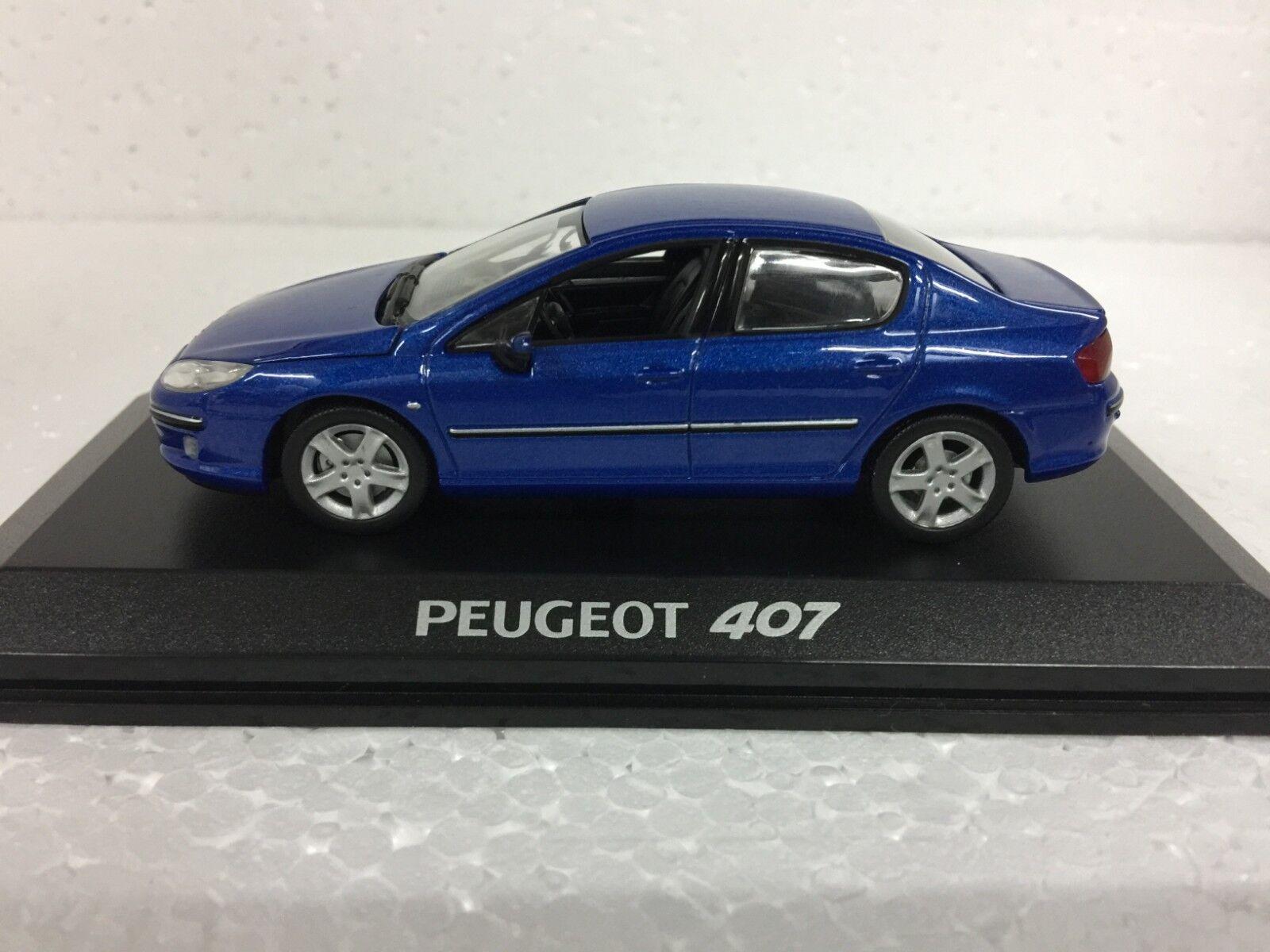 1 43 NOREV PEUGEOT 407 BERLINE SALOON blueE diecast model car