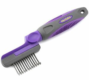 Rounded-Blade-Dematting-Comb-By-Hertzko-Round-Long-Blades-with-Safety-Edges