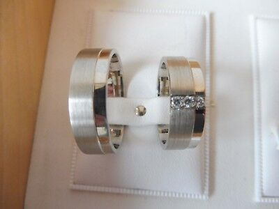 GüNstig Einkaufen Edles Paar Ringe ( Partnerringe ,trauringe...)__925 Silber__mit 3 Steinen__neu