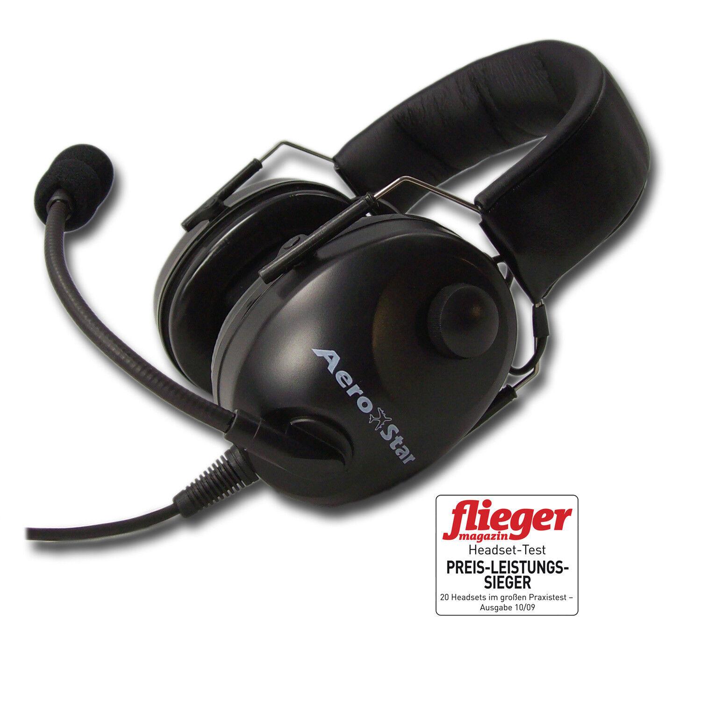 Aero-Star comfort schwarz schwarz schwarz Piloten Headset Aviation Headset e8e7fe