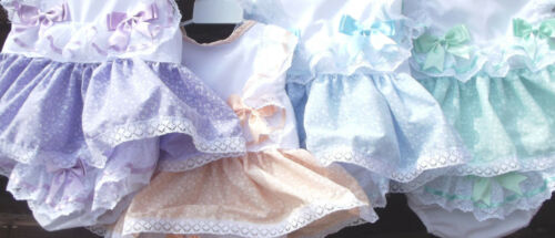 DREAM 0-5 YEARS BABY SUMMER BOWS TOP AN KNICKERS ROMPER  6 COLOURS  REBORN DOLLS