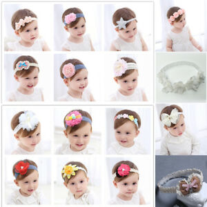 5d52ab569d0 Cute Lace Flower Kids Baby Girl Toddler Headband Hair Band Headwear ...