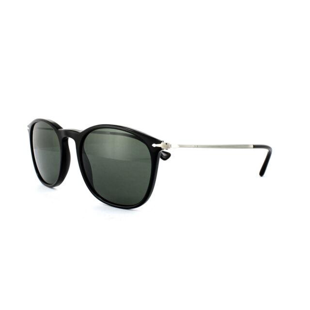 f7038c99a81 Original Persol PO 3124s 95 31 Black Frame Grey Green Lens Sunglasses 50