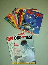 Öko Test Jahrgang 1993 Hefte Nr. 1-9 und 11-12 insgesamt 11 Hefte