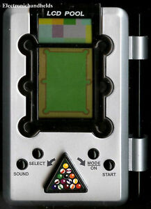 EXCALIBUR BILLIARDS POOL ELECTRONIC HANDHELD VIDEO LCD GAME TRAVEL BOARD STICK