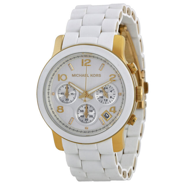 Michael Kors White Polyurethane Ladies Watch 5145