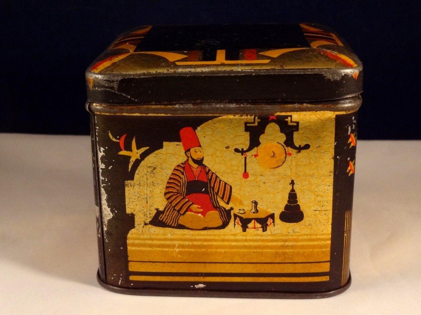 Ancienne boîte en tôle Mosquée lithographiée orientale café Kaffee Turquie  Mosquée tôle 20 dc0090