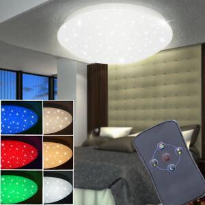 rgb led deckenlampe schlafzimmer fernbedienung sternenhimmel dimmer beleuchtung ebay. Black Bedroom Furniture Sets. Home Design Ideas
