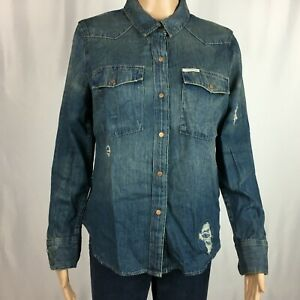 New-Calvin-Klein-Womens-Jacket-Stressed-Size-L-NWT