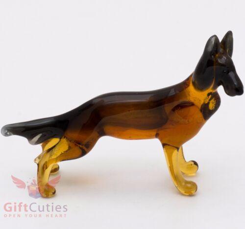 Art Blown Glass Figurine of the German Shepherd dog