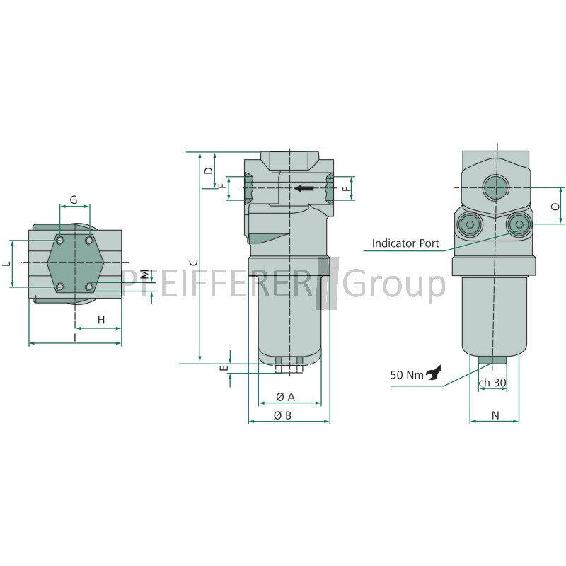 Hydraulique pression fg010 filtre 30.115 fg010 pression 681dc8