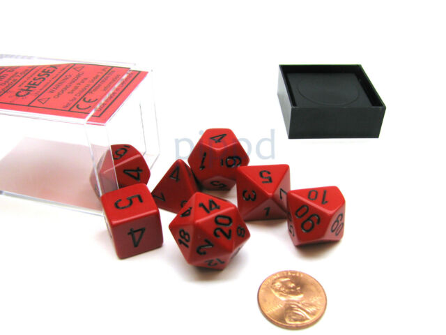 Orange with Black Numbers Polyhedral 7-Die Opaque Chessex Dice Set