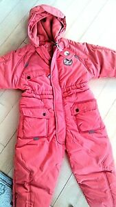 JACADI Girl/'s Seriner Rose Pale Pink Snowsuit Size 6 Months NWT $84