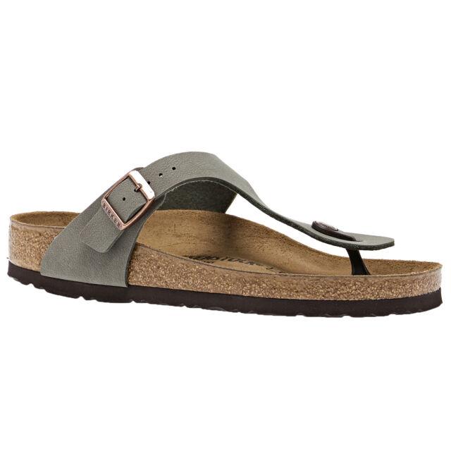 Birkenstock Gizeh Birko Flor Nubuck Unisex Footwear Sandals - Stone All Sizes