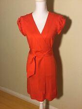 Diane Von Furstenberg DVF Maia Wrap Spring Summer Dress Bright Red Size Small
