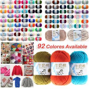 92-Colors-Soft-Crochet-Yarn-DIY-Hand-Milk-Baby-Cotton-Knitting-Wool-Yarn-Craft