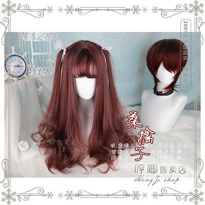 Sweet Lolita Harajuku Gradient Wig Gothic Wave Long/Short Curly Hairpiece#HM-L24