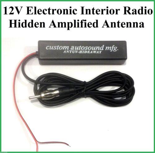 12v Electronic Interior Stereo AM FM Radio Hidden Amplified Antenna Car Truck J
