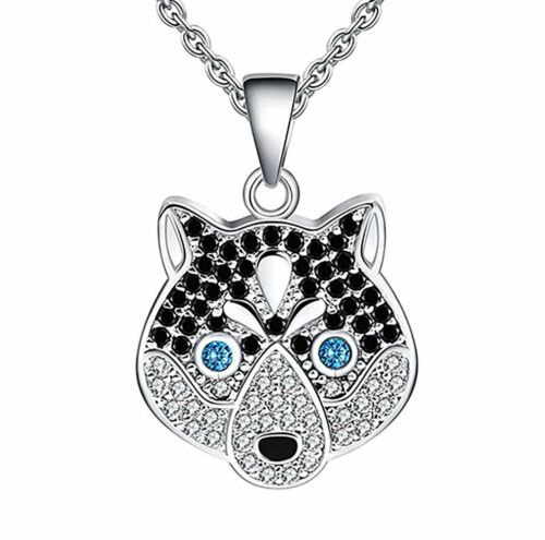 Ginger Lyne Collection Koko The Siberian Husky Dog Sterling Silver CZ Pendant...