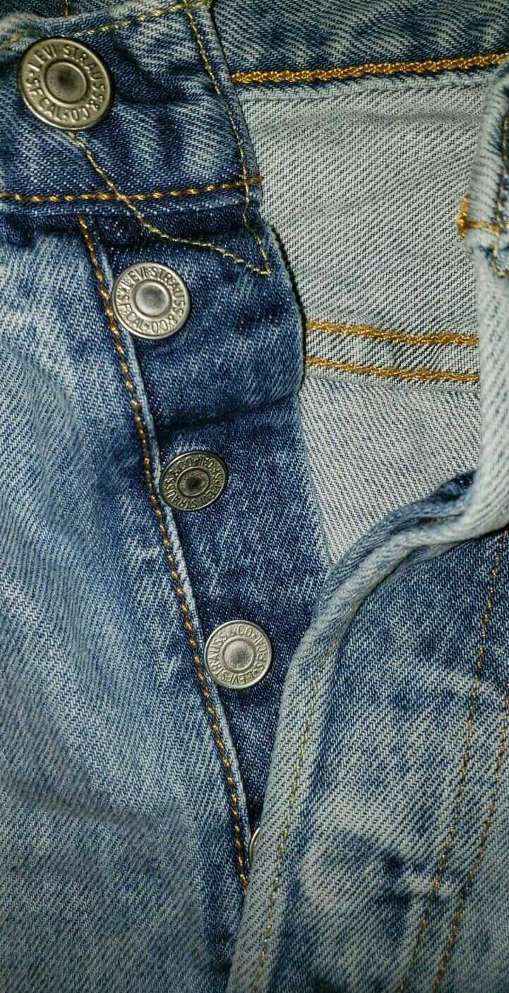 Levis 501's Jeans Distressed 36x32 Button Fly - image 6