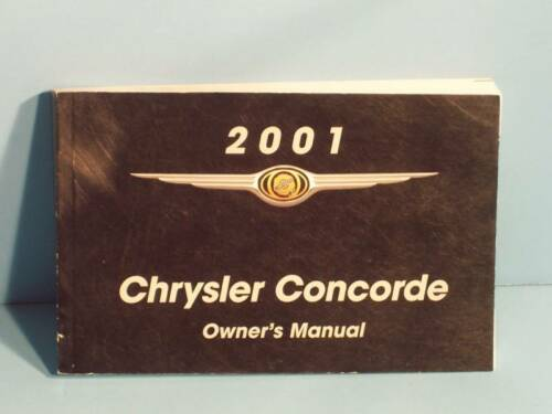 01 2001 Chrysler Concorde owners manual