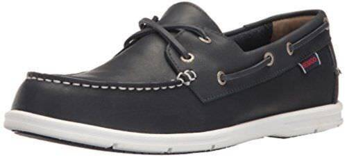 Hombre SEBAGO LITESIDES NAVY talla 10.5 EU 45 LEATHER B864065 LACE UP BOAT zapatos B864065 LEATHER 47c677
