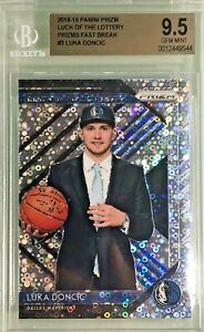 Luka-Doncic-2018-19-Panini-Prizm-Fast-Break-Luck-fo-the-Lottery-BGS-9-5-Gem-Mint