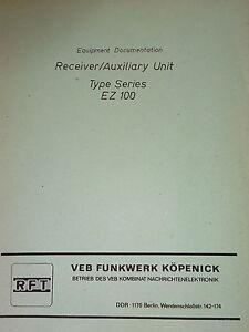 EZ-100-englische-Erzeugnisunterlage-Equipment-Documentation-Funkwerk-Koepenick