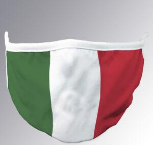 Copri-Bocca-Naso-ITALIA-Cotone-Lavabile-Protezione-Viso-Riutilizzabile