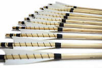 White Shield Medieval Wooden Arrows Handmade Shaft For Bow Archery Practice