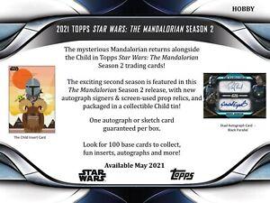 Star Wars The Mandalorian Season 2 2021 Topps Hobby Box (Presell) Jun 18th