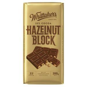Whittaker's Hazelnut Milk Chocolate Block 200g