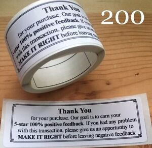 200-Thank-You-For-Your-Purchase-ENVELOPE-PACKAGE-SEALS-LABELS-STICKERS-5-STAR