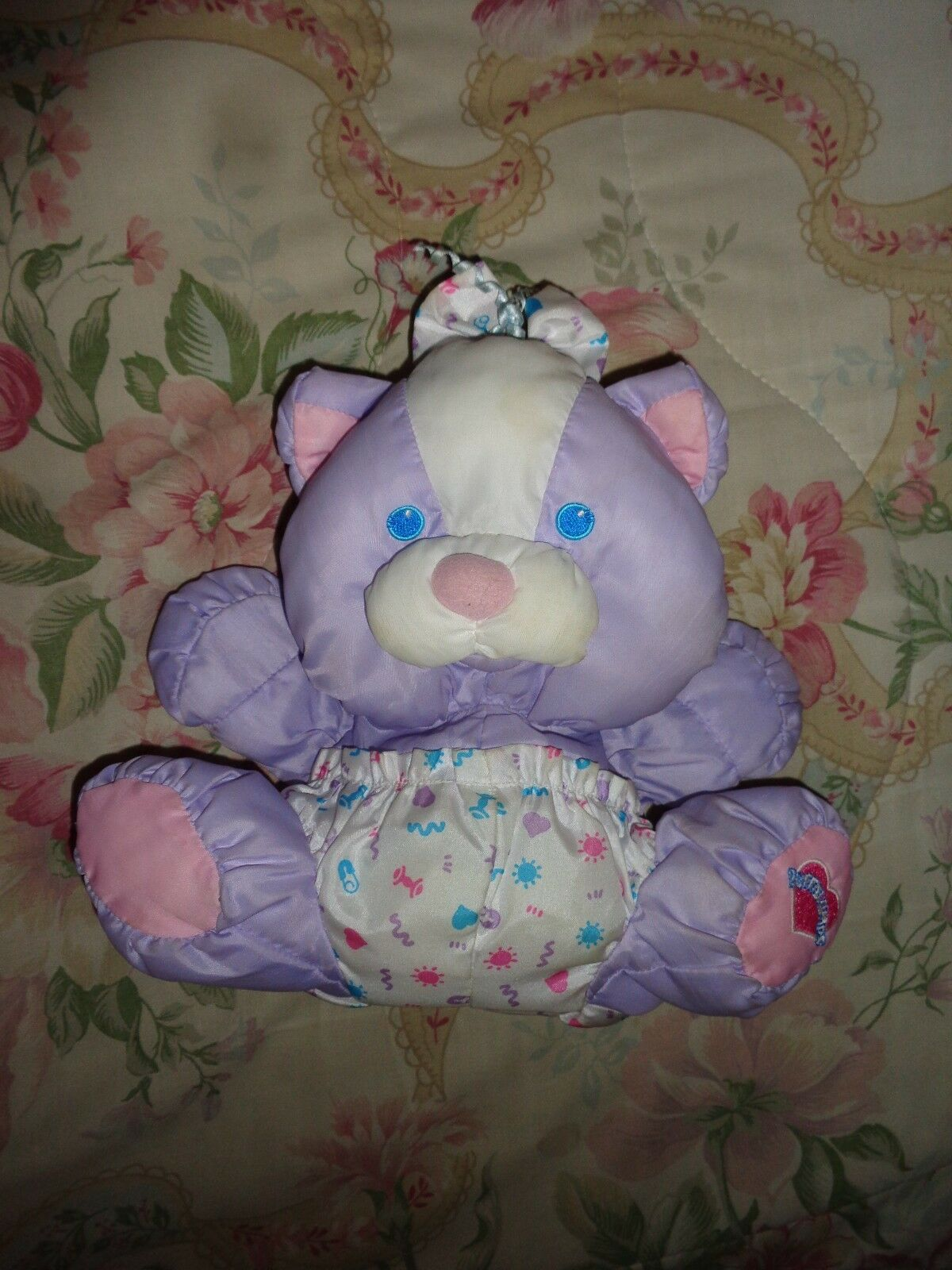 Fisher Price Puffalump lila Baby Kitty Cat 1999
