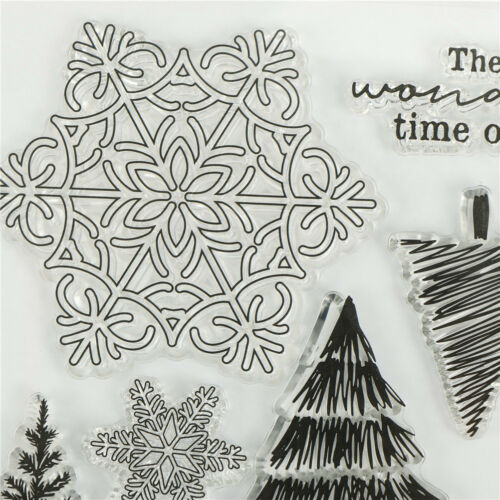Christmas trees snowflakes Scrapbooking Album Paper Card Decor Diary Craft  CP