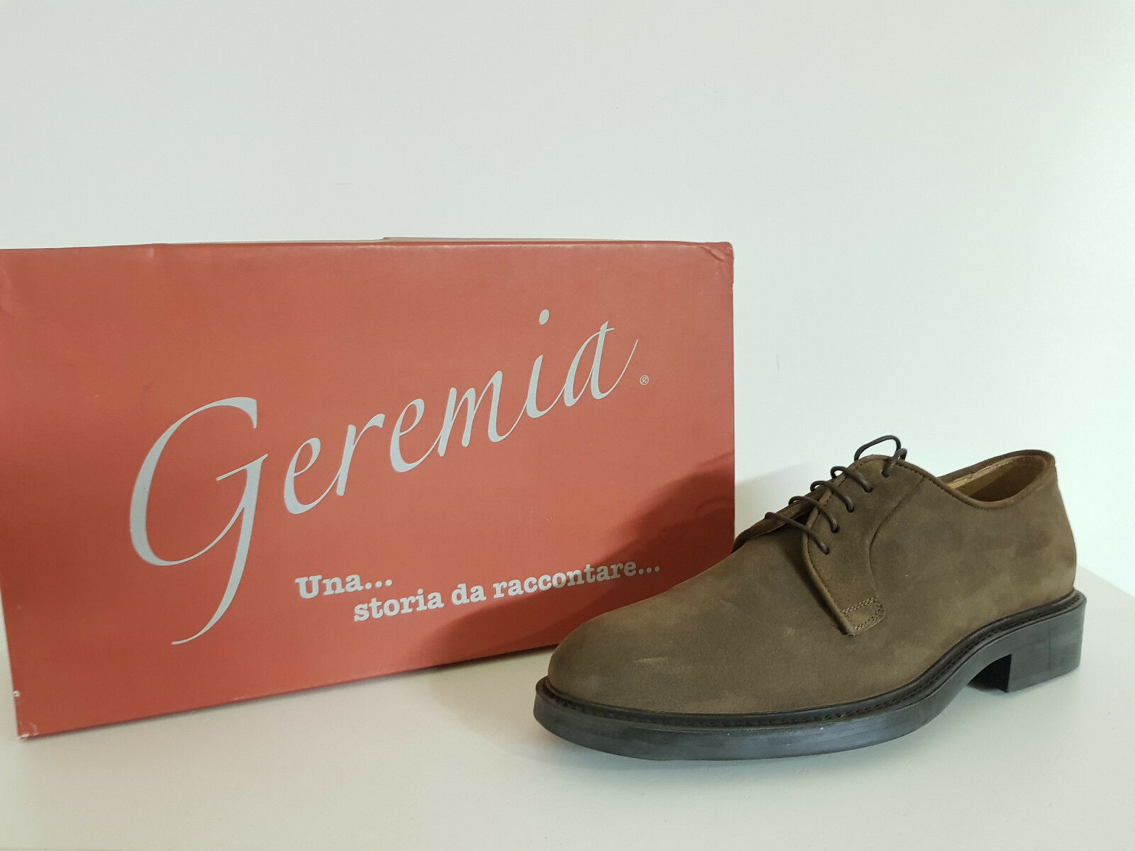 Men's shoes Geremia discount. - 60%no. 605-4971 Velour taupe Col. Brown