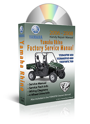 YAMAHA RHINO 450 Service Repair Maintenance Mechanic Workshop Manual BOOK 2006