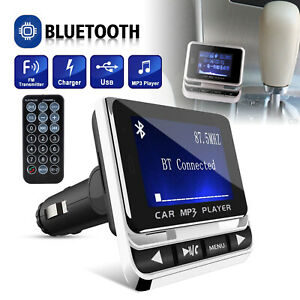 Wireless-Car-Bluetooth-FM-Transmitter-Aux-USB-Charger-Hands-Free-Call-1-4-inch