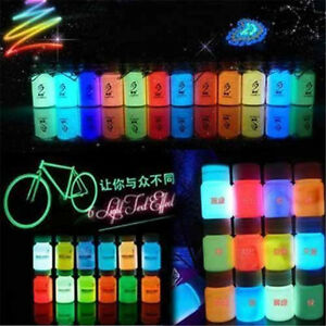 Details About 20g Glow In The Dark Diy Acrylic Bright Pigment Graffiti Luminous Paint Crafts