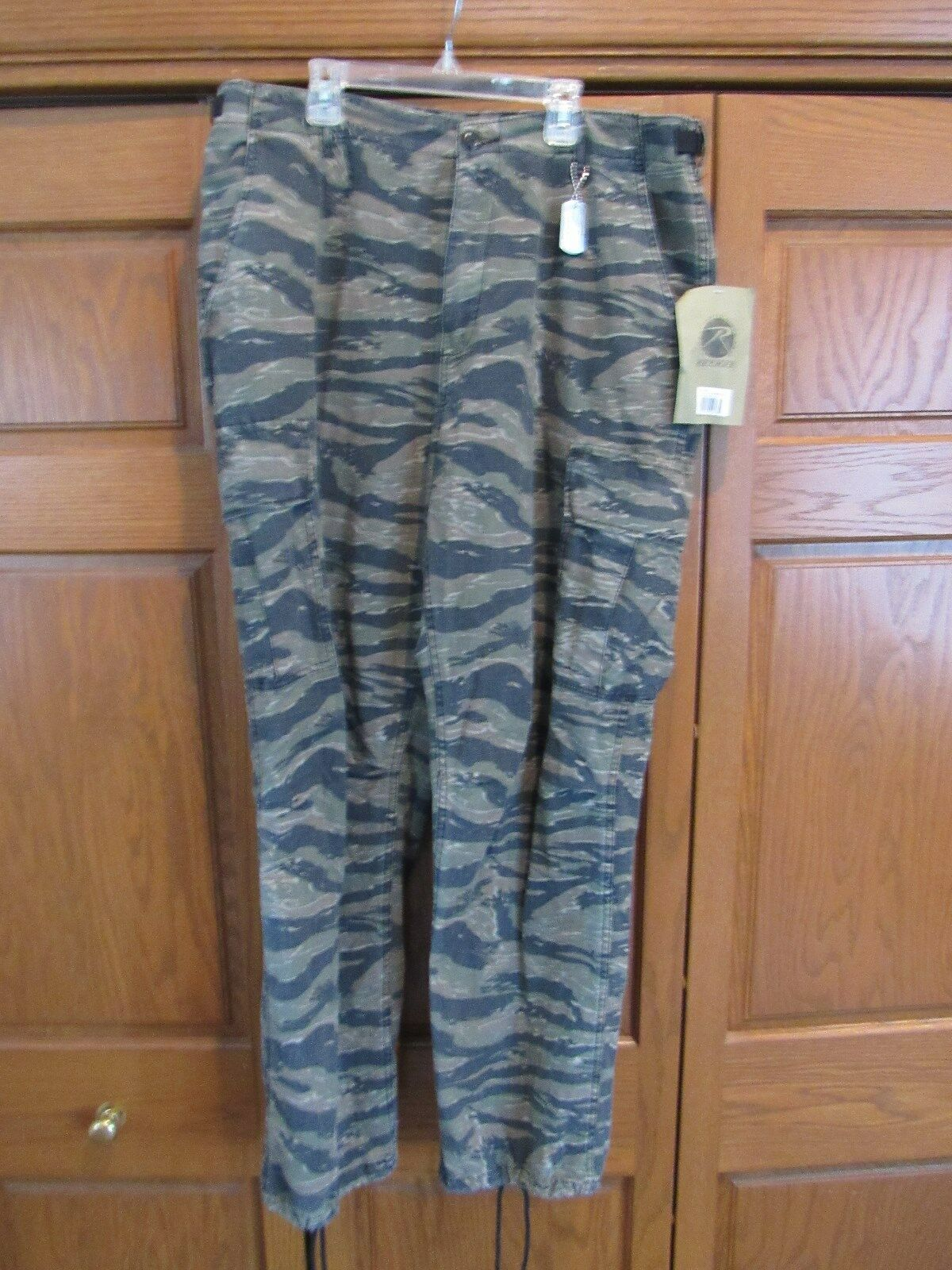NWT Men's Army Tiger stripe BDU pants & shirt Hunting Fishing sz L XL Regular