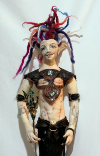 """PAPER *NEW* CLOTH ART DOLL GUARDIAN OF THE DEEP!/"""" PATTERN TUTORIAL /""""REIF"""