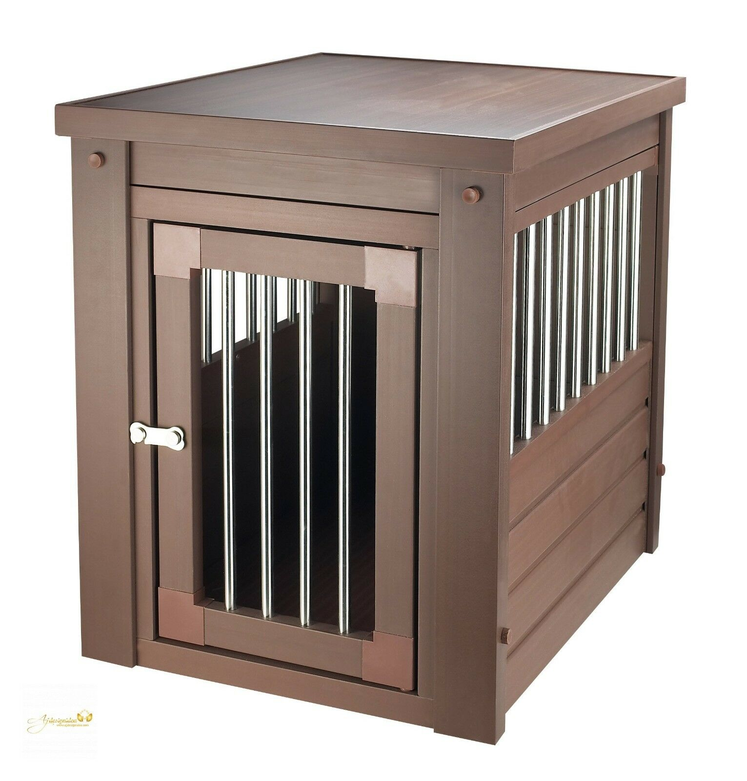 Pet Crate Kennel End Lamp Table Dog Cat Wire Cage Indoor House Kitchen Laundry