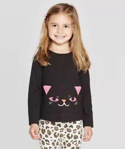 Nwt-Girls-Size-4t-Cat-amp-Jack-Cat-Shirt-Size-4t-Halloween