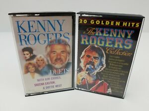 Kenny-Rogers-Cassette-Tapes-Lot-of-2-The-Collection-20-Golden-Hits-amp-Duets