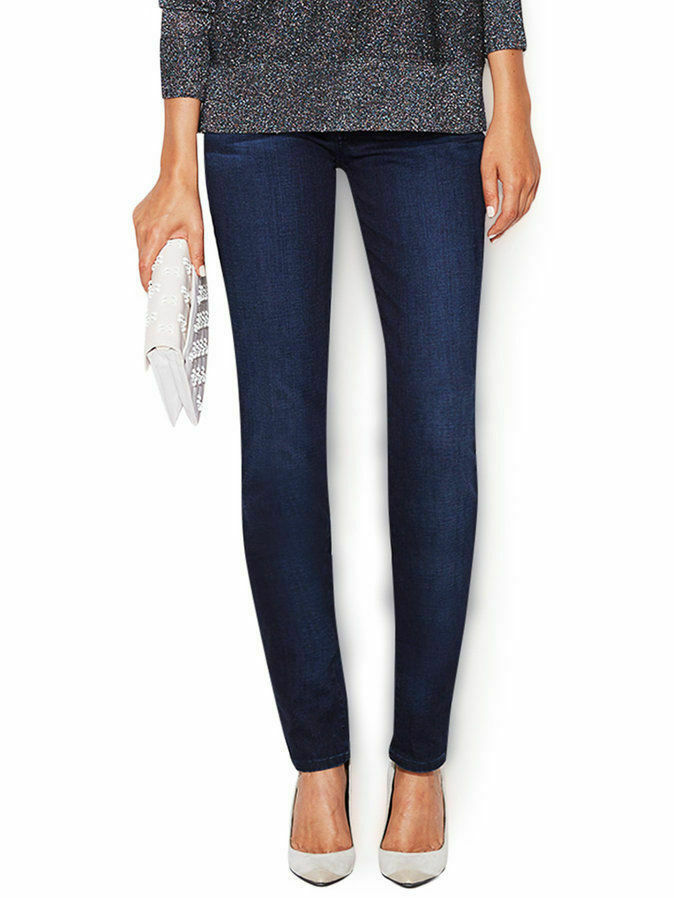 7 For All Mankind Womens Jeans Classic Skinny bluee Mid Rise Inseam 33