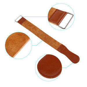 New-Brown-Barber-Cow-Leather-Strop-Straight-Razor-Sharpening-Shave-Shaving-Strap